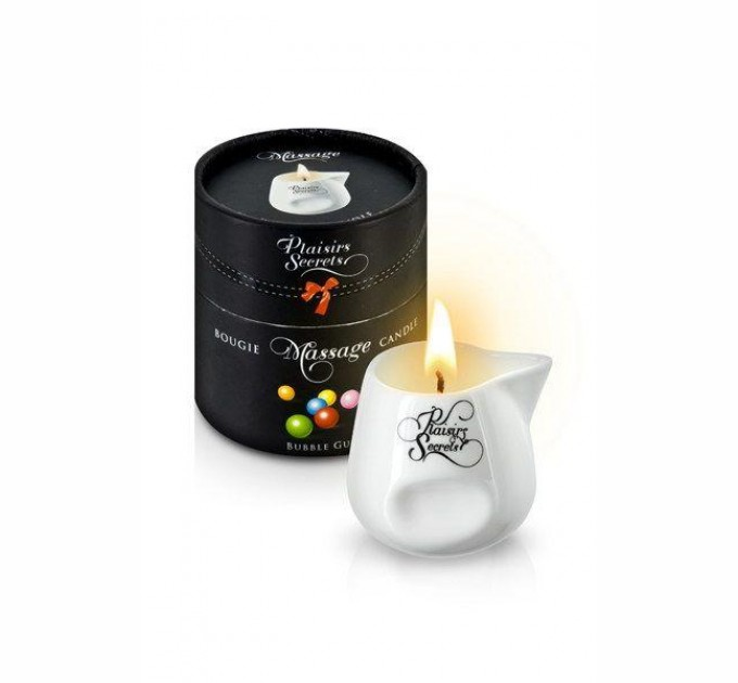 Массажная свеча Plaisirs Secrets Bubble Gum 80 мл (SO1847)