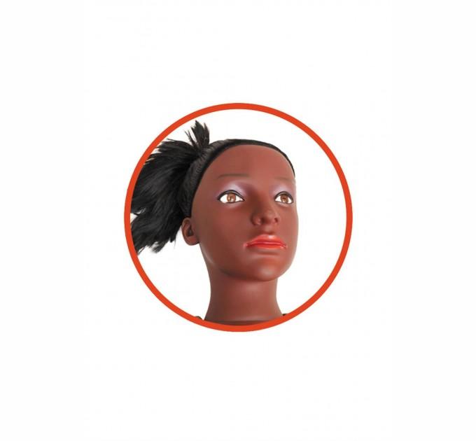 Надувная кукла Boss ALECIA 3D с вставкой из киберкожи и вибростимуляцией Коричневый