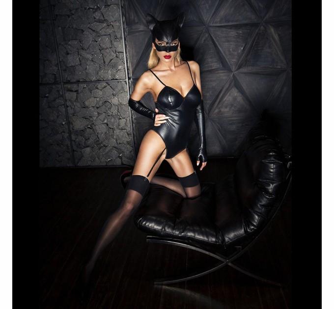 Эротический костюм кошечки D&A Игривая Стефани XS/S Черный (SO2853)