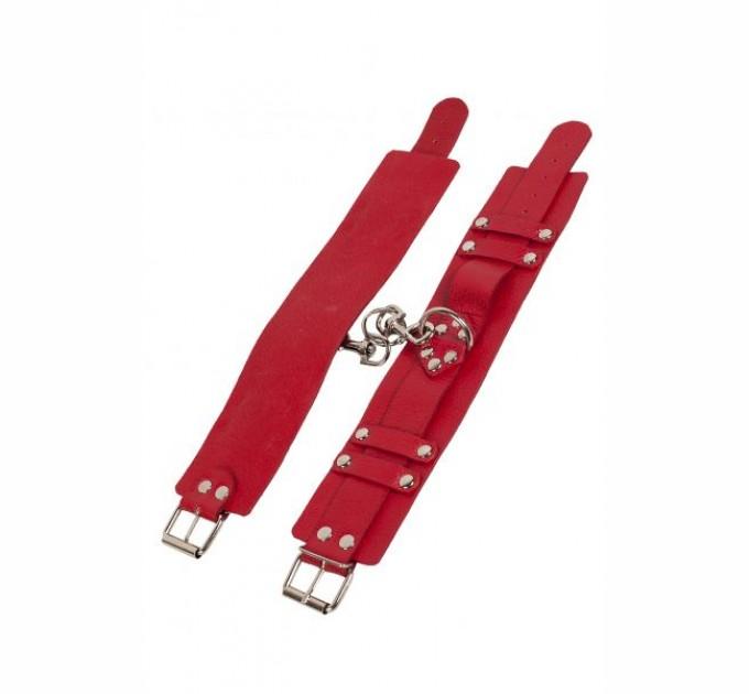 Оковы Slash Leather Dominant Leg Cuffs red
