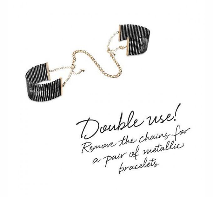 Украшение-наручники Bijoux Indiscrets Desir Metallique Handcuffs Black (SO2663)