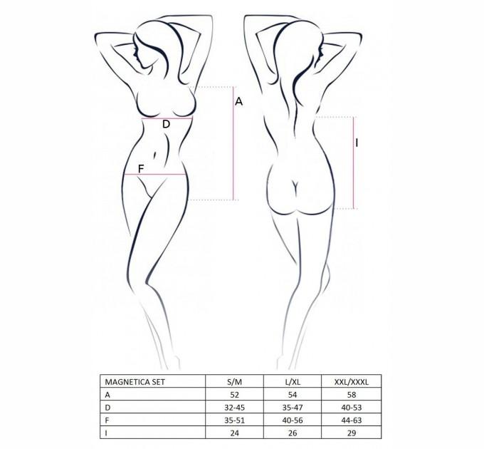 Костюм эротичесий Passion Playboy MAGNETICA SET L/XL Черный (EL12701)