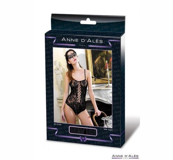 Женское боди сетка Anne De Ales BAROQUE M/L Black (SO1935)