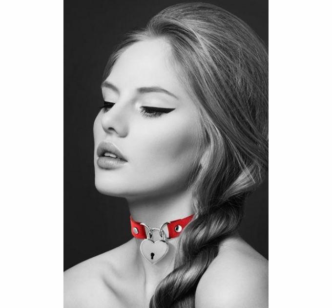 Чокер Bijoux Pour Toi HEART LOCK Red (SO1884)