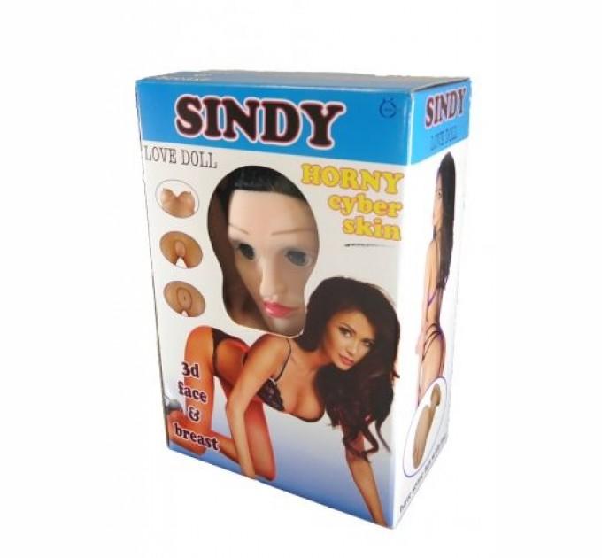 Надувная кукла Boss SINDY 3D с вставкой из киберкожи и вибростимуляцией Телесный