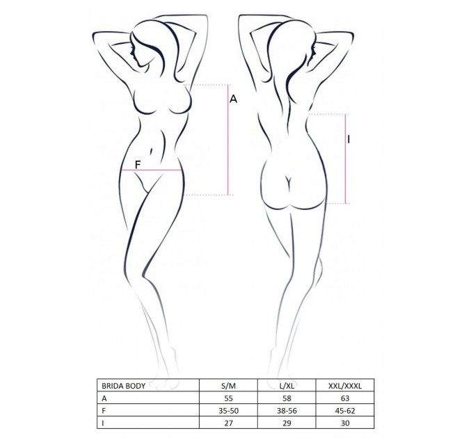 Женское боди BRIDA BODY L/XL Красный (PS22704)