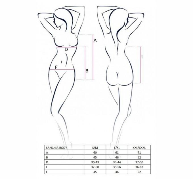 Женское боди SANCHIA BODY S/M Черный (EL13502)