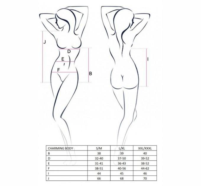 Женское боди CHARMING BODY S/M Черный (EL11002)