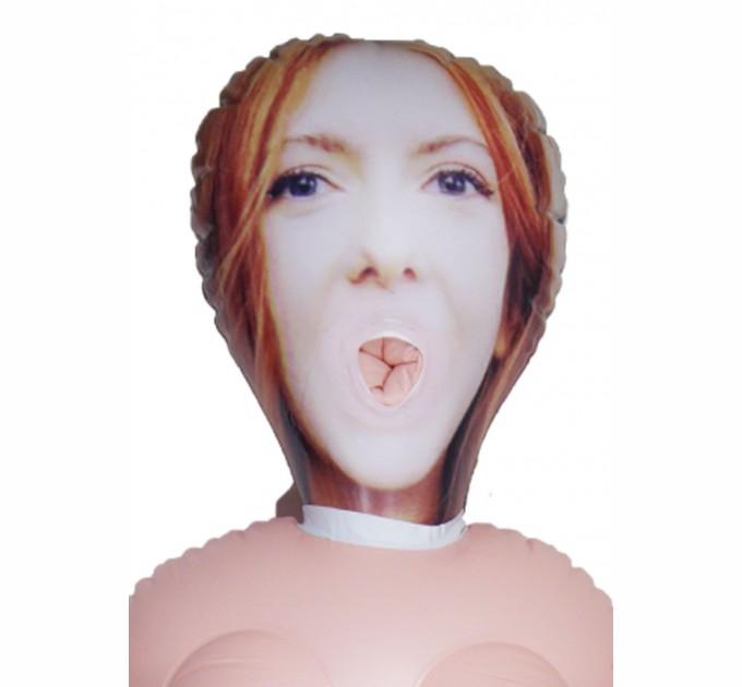 Надувная кукла Boss Devorcee с вставкой из киберкожи Телесный