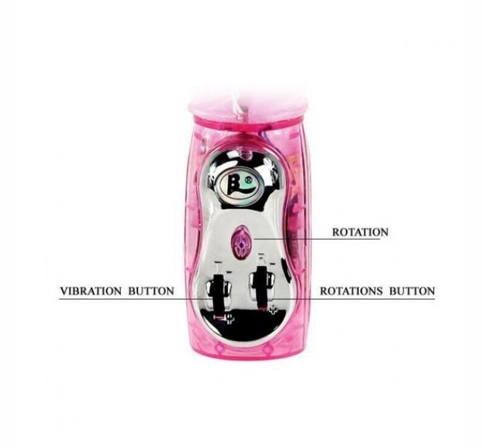 Вибратор Lybaile Light с клиторальным стимулятором Pink