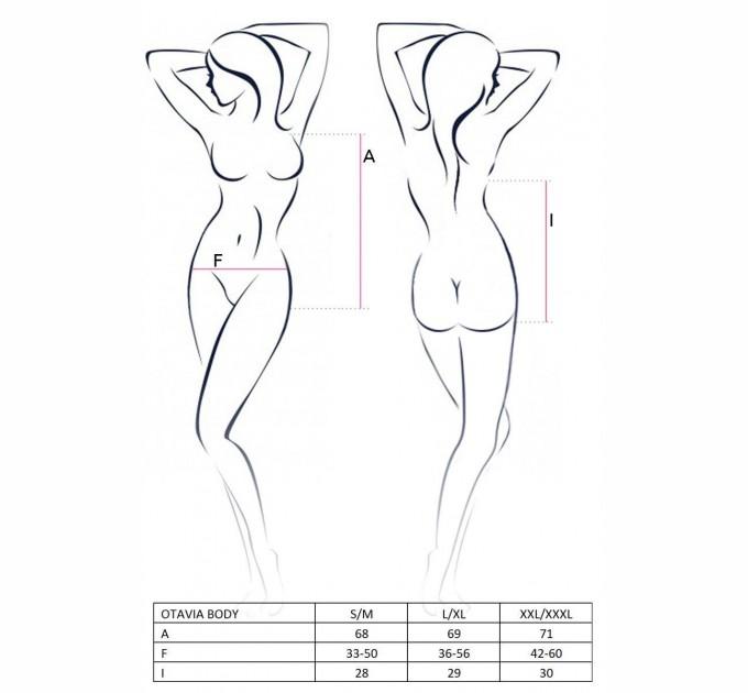 Женское боди OTAVIA BODY XXL/XXXL Черный (EL15703)