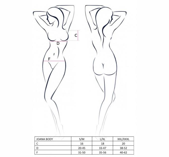 Женское боди JOANA BODY L/XL Черный (EL15301)
