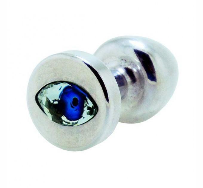 Анальная пробка со стразом Diogol Anni R Eye Кристалл 30 мм Silver