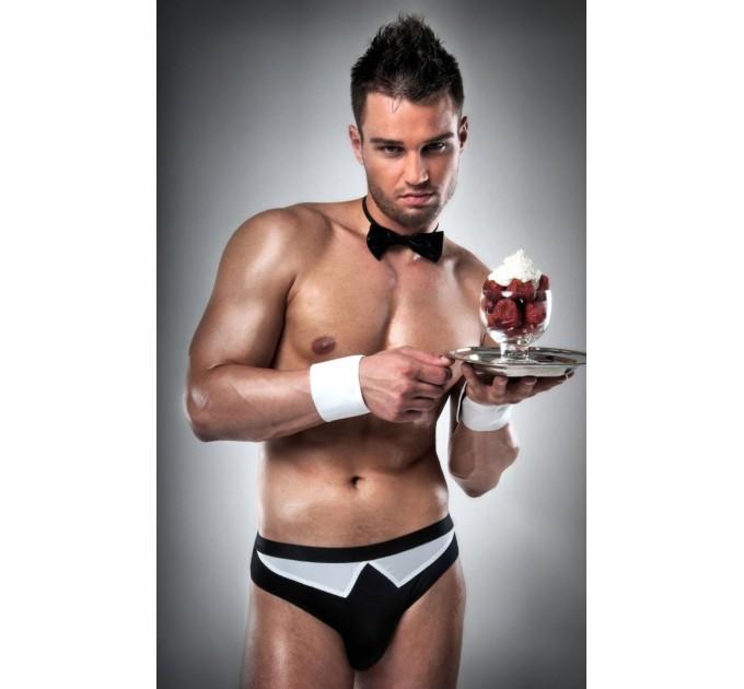 Мужской эротический костюм Passion 020 SLIP S/M Черный (PSM0202)