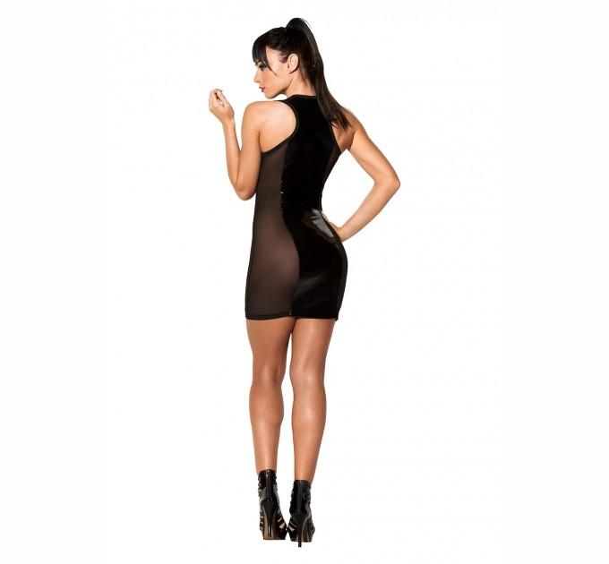 Платье с лакированными вставками Avanza