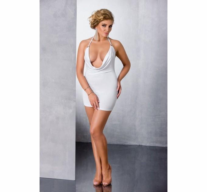 Платье и трусики Passion MIRACLE CHEMISE 4XL/5XL Белый (PS1018)