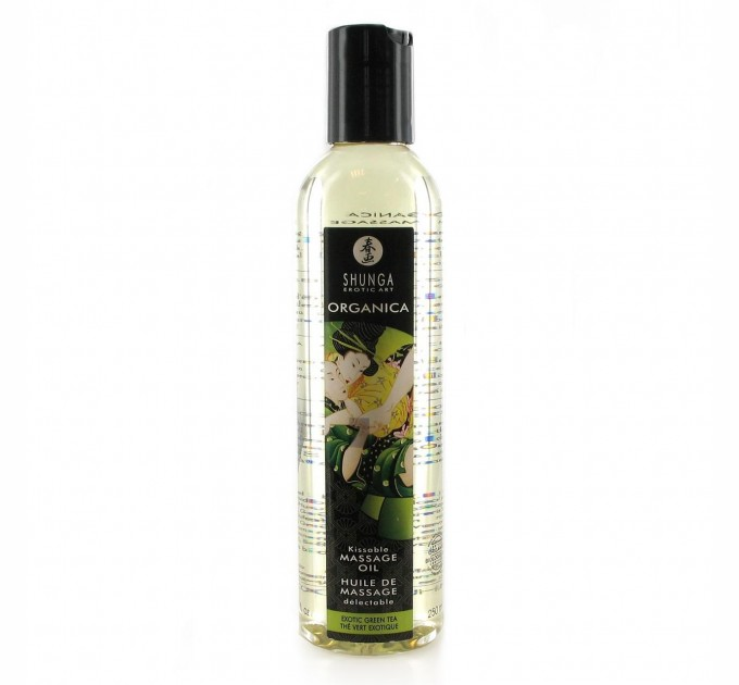 Съедобное массажное масло Shunga MASSAGE OIL ORGANIC Exotic Green Tea 250 мл (SO2503)