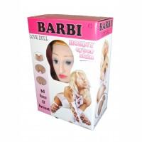 Надувная кукла Boss BARBI- 3D с вставкой из киберкожи и вибростимуляцией Телесный