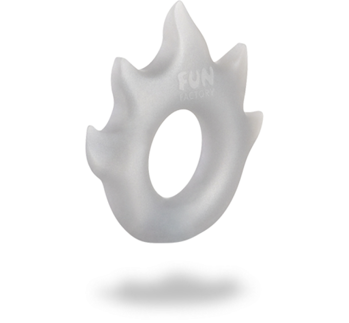 Эрекционное кольцо Fun Factory Flame Silver (51319)