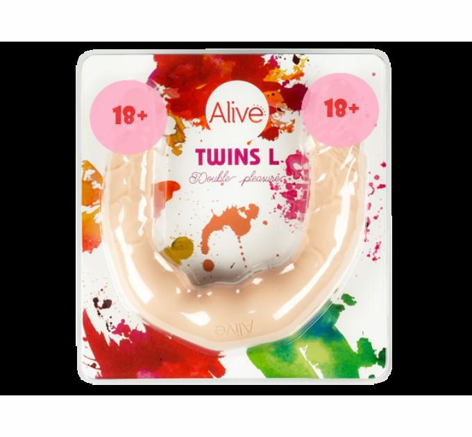 Фаллоимитатор двойной Alive Twins L (AL20537)