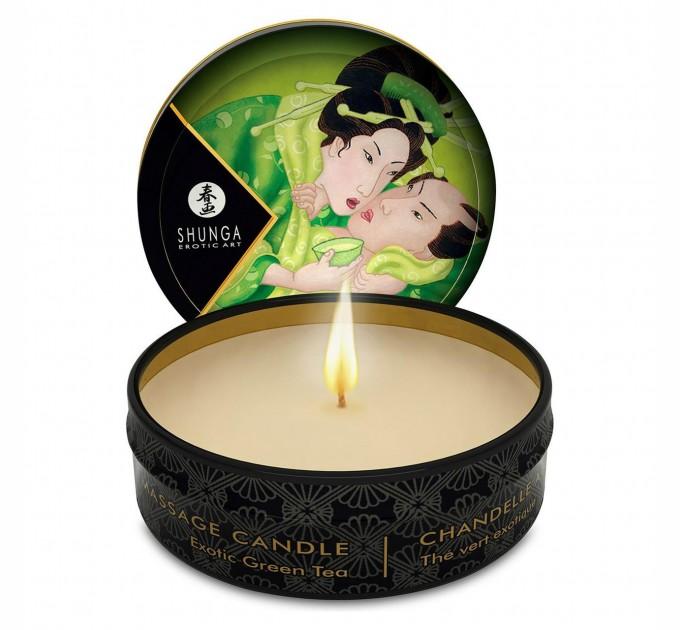 Массажная свеча Shunga MINI MASSAGE CANDLE Exotic Green Tea 30 мл (SO2521)