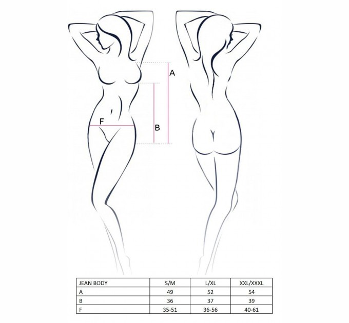Женское боди JEAN BODY размер S/M Черный (EL11902)