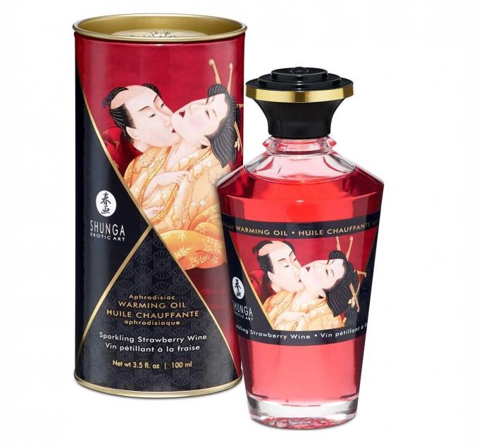 Разогревающее масло Shunga APHRODISIAC WARMING OIL Sparkling Strawberry Wine 100 мл (SO2497)