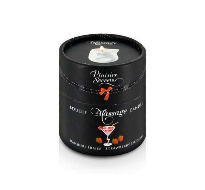 Массажная свеча Plaisirs Secrets Strawberry Daiquiri 80 мл (SO1855)