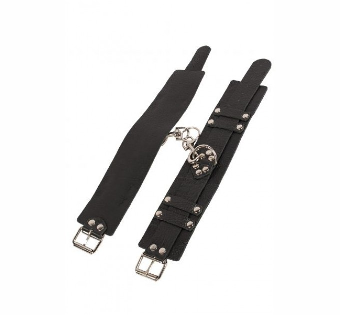 Оковы Slash Leather Dominant Leg Cuffs black