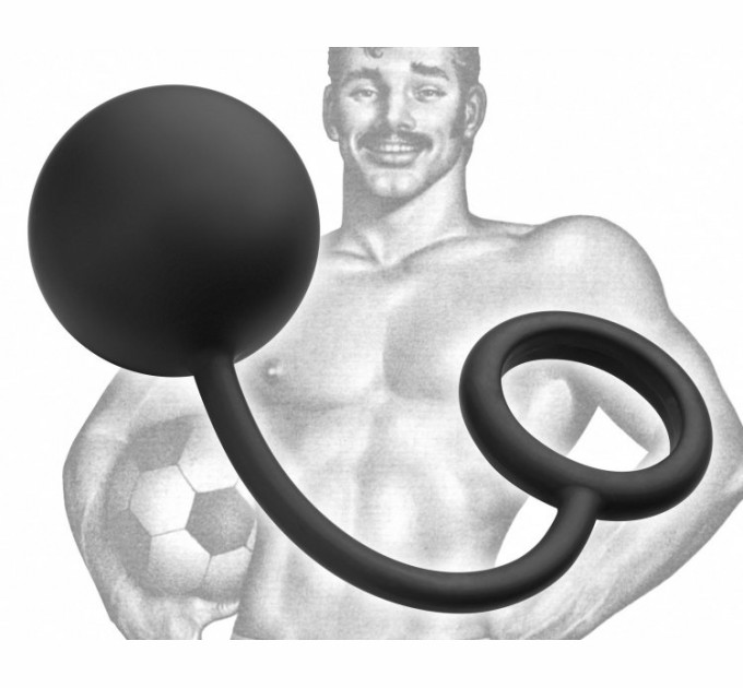 Анальный шарик Tom of Finland Silicone Cock Ring with Heavy Anal Ball