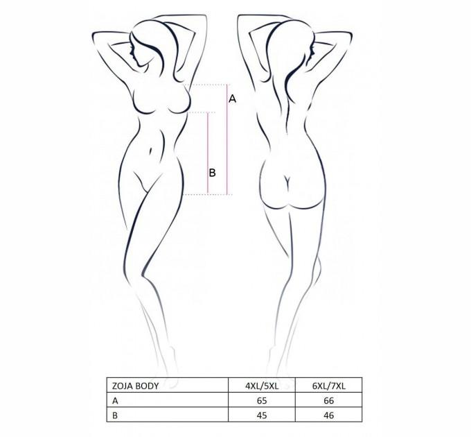 Женское боди Passion ZOJA BODY 6XL/7XL Черный (PS1017)