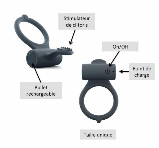 Эрекционное кольцо Dorcel Power Clit Plus (SO1417)