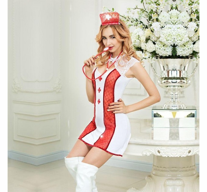 Эротический костюм медсестры S/M Соблазнительная Адриана (SO2278)