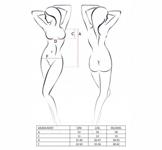 Женское боди ADARA BODY S/M Черный (EL10102)
