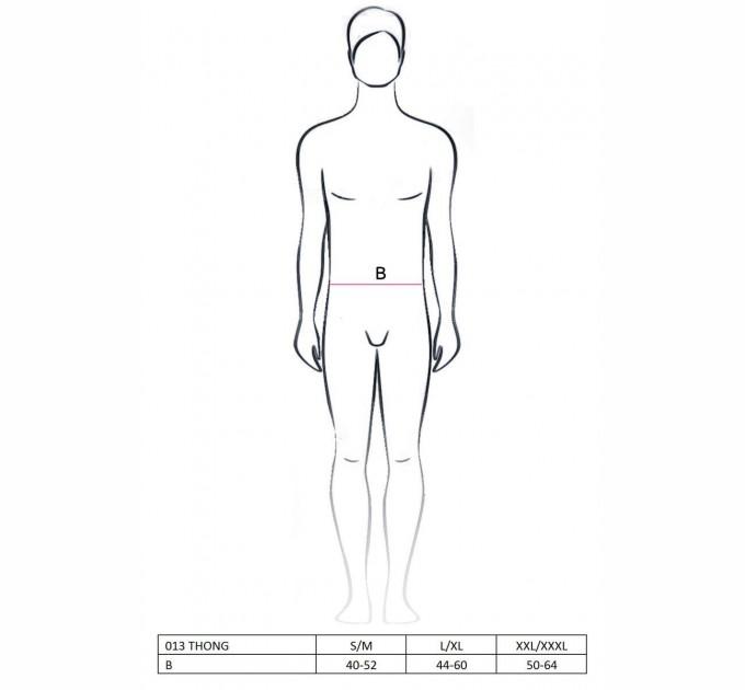 Мужские трусы Passion 013 THONG XXL/XXXL Черный с белым (PSM0133)