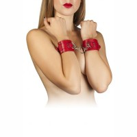 Наручники Slash Leather Dominant Hand Cuffs red
