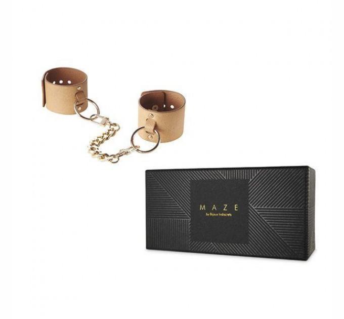 Наручники Bijoux Indiscrets MAZE Wide Cuffs Brown (SO2650)