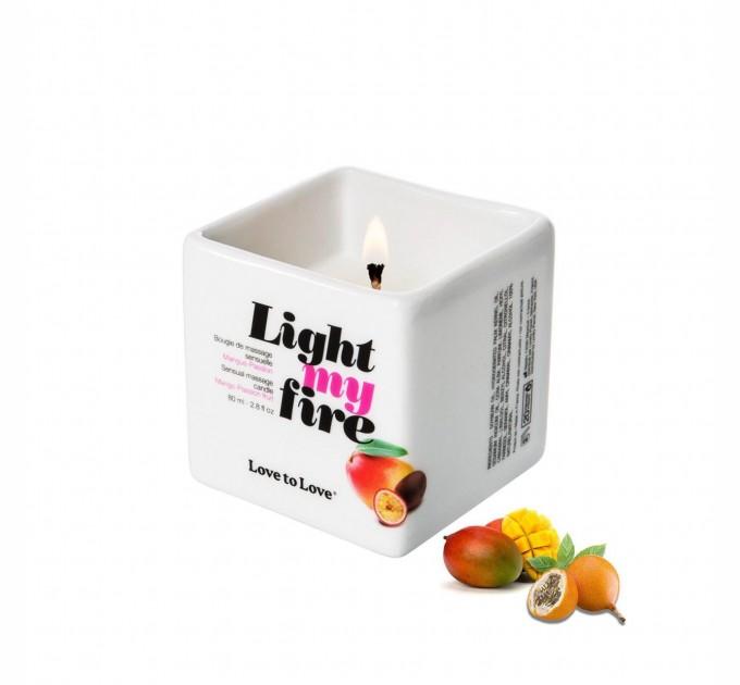 Массажная свеча Love To Love LIGHT MY FIRE Mango 80 мл (SO1397)