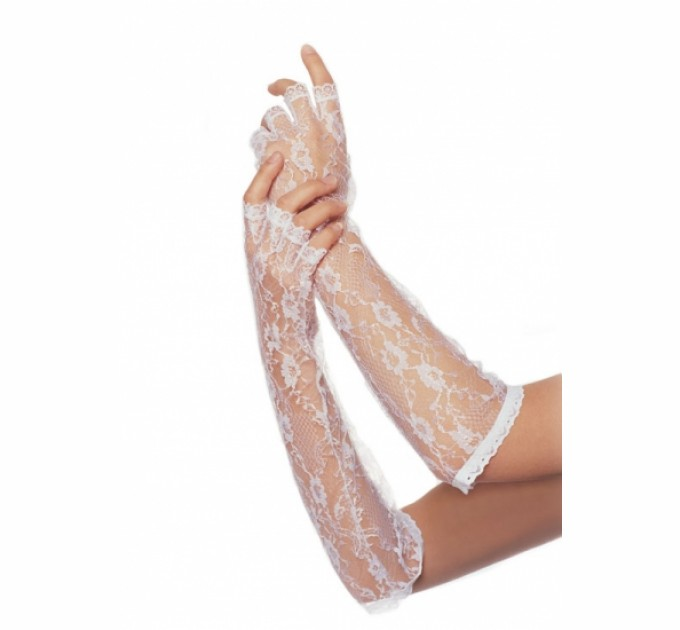 Перчатки Leg Avenue Белые