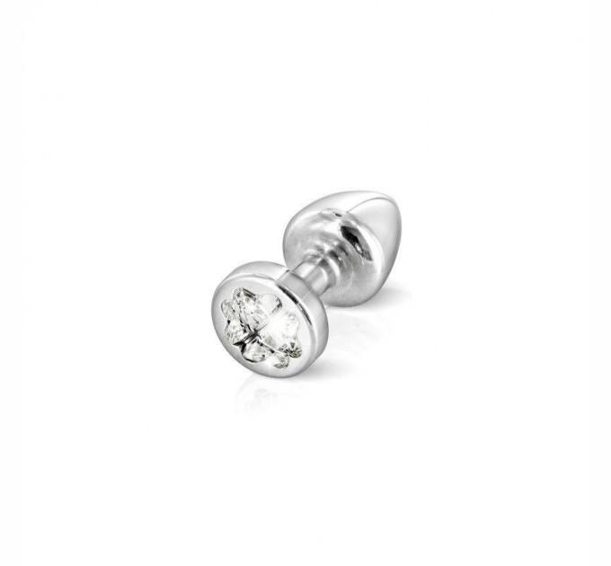 Анальная пробка со стразом Diogol Anni R Clover Кристалл 30 мм Silver