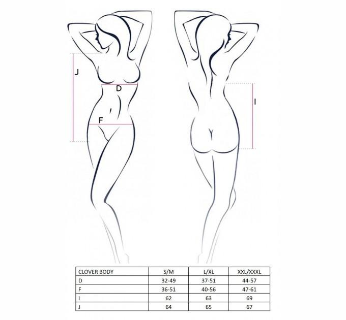 Женское боди Passion CLOVER BODY S/M Черный (EL11102)