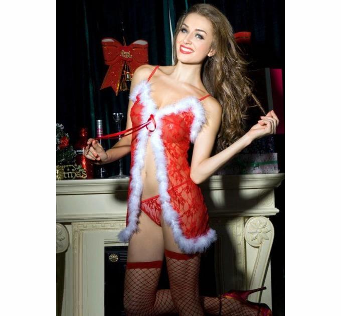 Новогодний эротический костюм S/M Красотка Синди (SO2264)