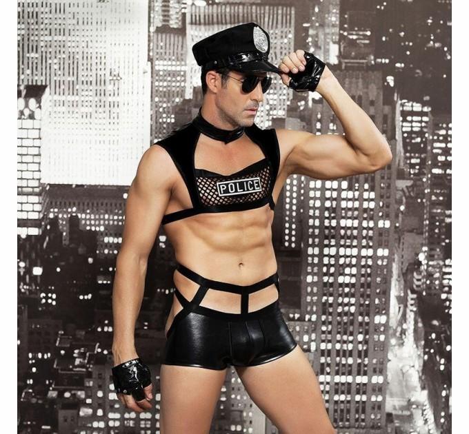 Мужской эротический костюм полицейского S/M Капитан Беспринципность (SO2287)