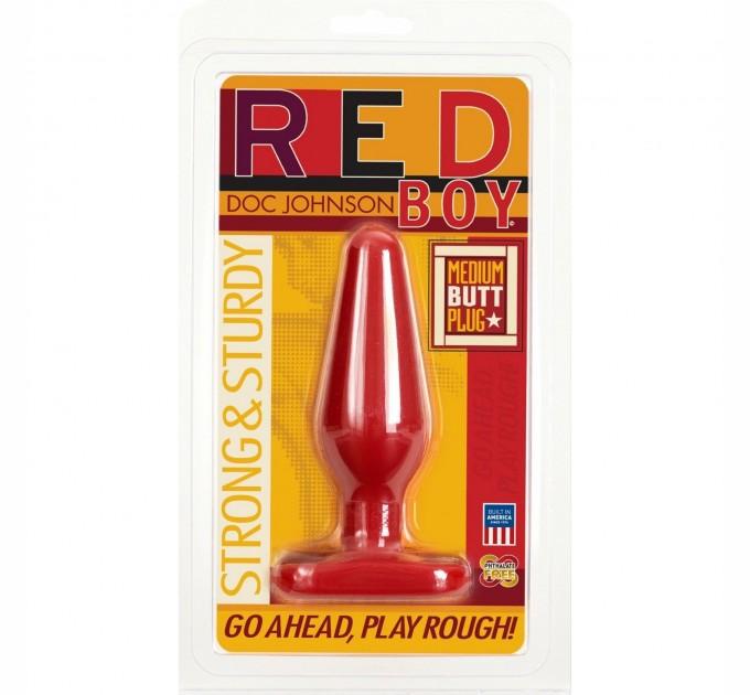 Анальная Пробка Doc Johnson Red Boy-Medium 5.5 Inch