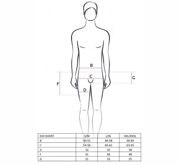 Мужские джентельменские трусы с бабочкой Passion 019 SHORT S/M Красный (PSM0192)