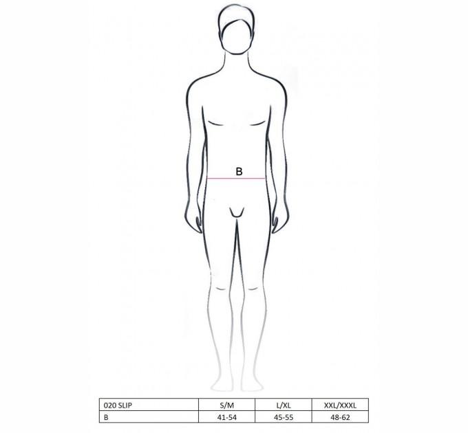 Мужской эротический костюм Passion 020 SLIP L/XL Черный (PSM0201)