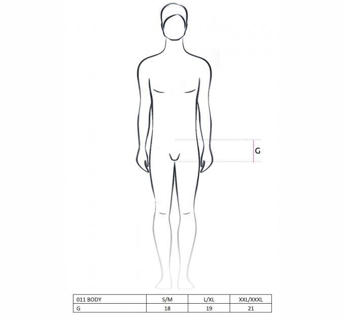 Мужское боди Passion 011 BODY L/XL Черный (PSM0111)