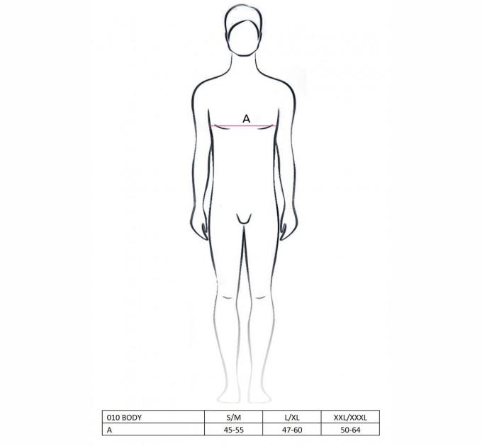 Мужское боди Passion 010 BODY L/XL Черный (PSM0101)