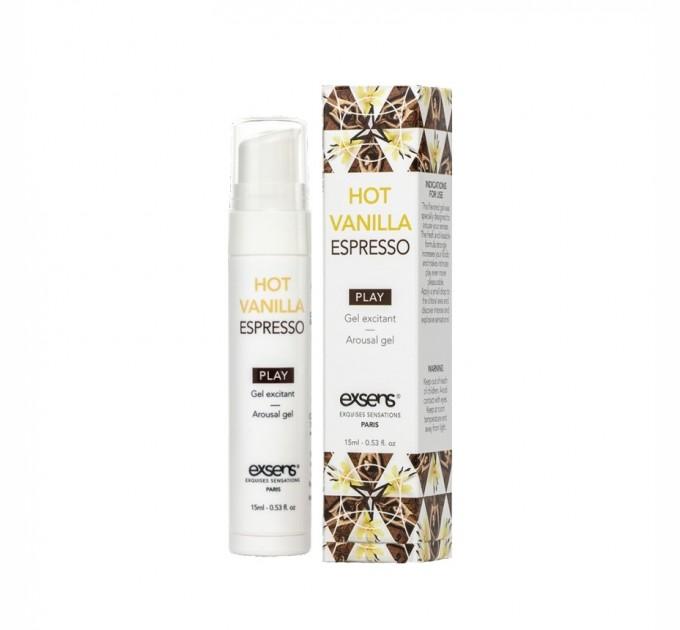 Стимулирующий гель EXSENS Kissable Hot Vanilla Espresso 15 мл (SO2368)