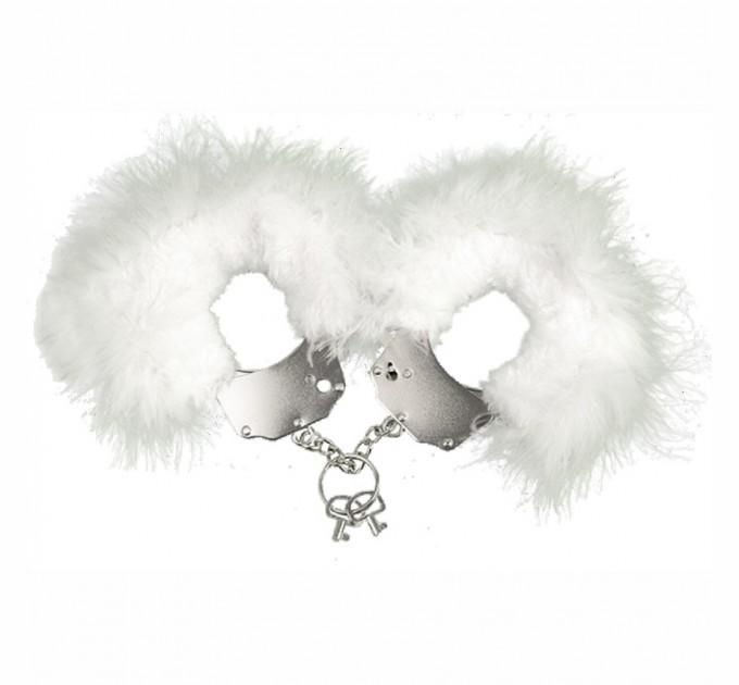 Наручники с белой отделкой Adrien Lastic Handcuffs White (AD30310)